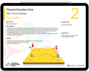Physical Education Net Court Games